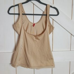 spanx nude open bust tank top shapewear L